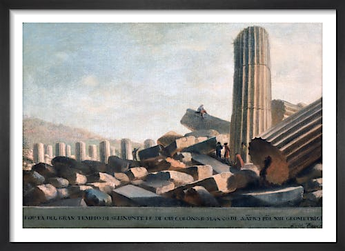 View of the Remains of the Great Temple at Selinunti (3 of 6) by Luigi Mayer
