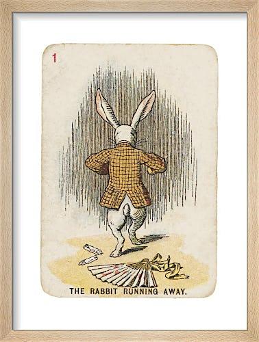 The Rabbit Running Away by Sir John Tenniel