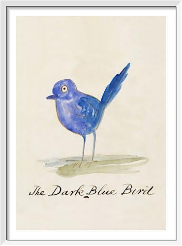 The Dark Blue Bird by Edward Lear