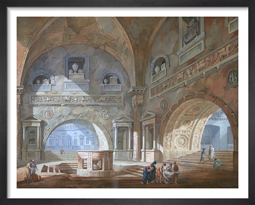 Interior of a Sepulchral Chamber by Joseph M Gandy