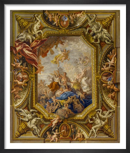 Sketch Design for the Ceiling of the Queen's State Bedchamber at Hampton Court Palace by Sir James Thornhill