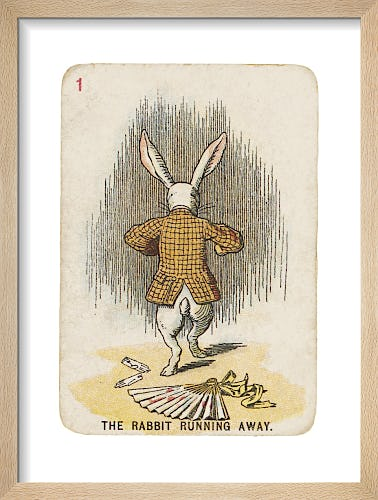 The Rabbit Running Away by Sir John Tenniel