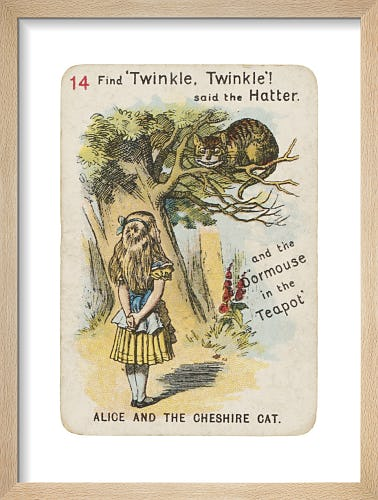 Alice and the Cheshire Cat by Sir John Tenniel