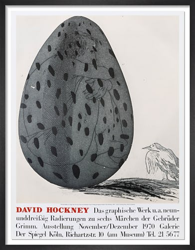 Galerie der Spiegel Cologne 1970 (The Boy Hidden in an Egg from Grimms, 1969) by David Hockney