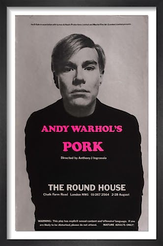 Andy Warhol's Pork by Rare Theatre Posters