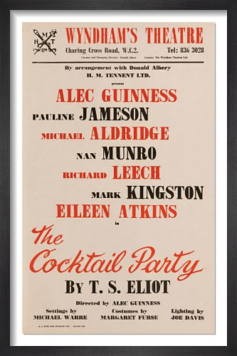 The Cocktail Party by Rare Theatre Posters
