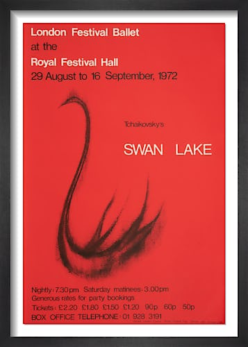 Swan Lake by Rare Theatre Posters