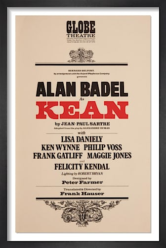 Alan Badel as Kean by Rare Theatre Posters