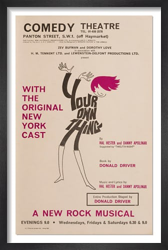 Your Own Thing by Rare Theatre Posters