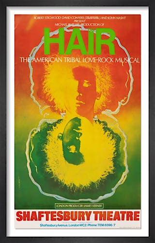 Hair by Rare Theatre Posters