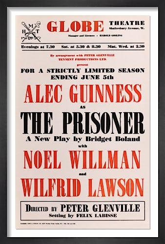 The Prisoner by Rare Theatre Posters