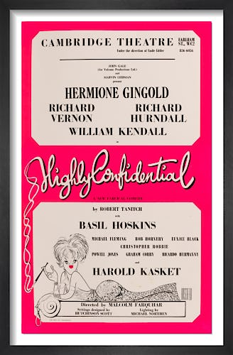 Highly Confidential by Rare Theatre Posters