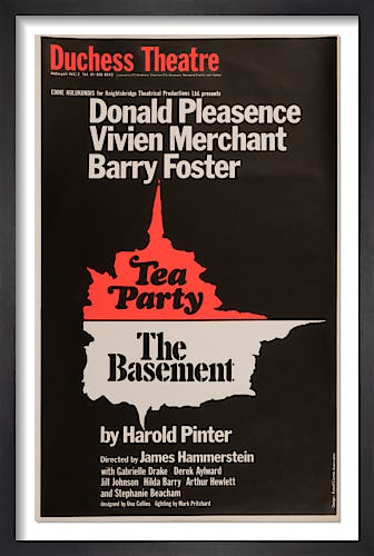Tea Party & The Basement by Rare Theatre Posters