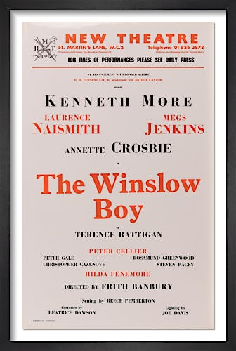 The Winslow Boy by Rare Theatre Posters