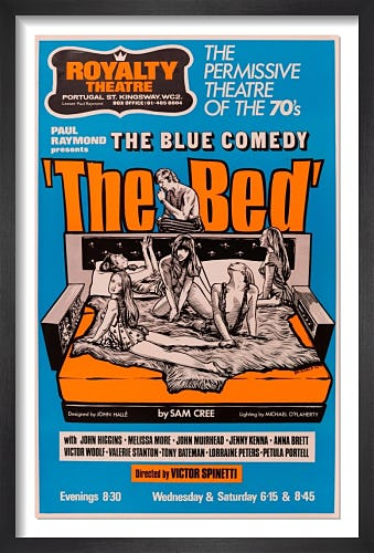 The Bed by Rare Theatre Posters