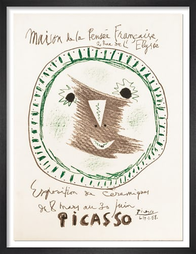Exposition de Ceramique II - Maison de la Pensee Francaise, 1958 by Pablo Picasso