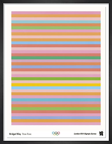 London 2012 Official Poster - Rose Rose by Bridget Riley