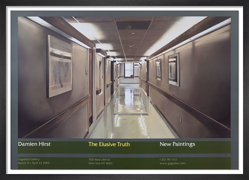 The Elusive Truth Poster (Hospital Corridor) by Damien Hirst