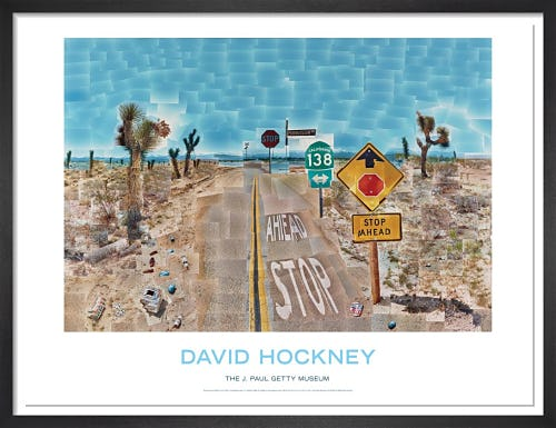 Pearblossom Highway by David Hockney