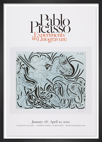 Experiments in Linogravure Poster (B) by Pablo Picasso
