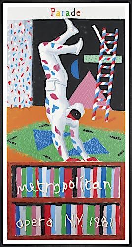 Parade, Metropolitan Opera NY 1981 by David Hockney