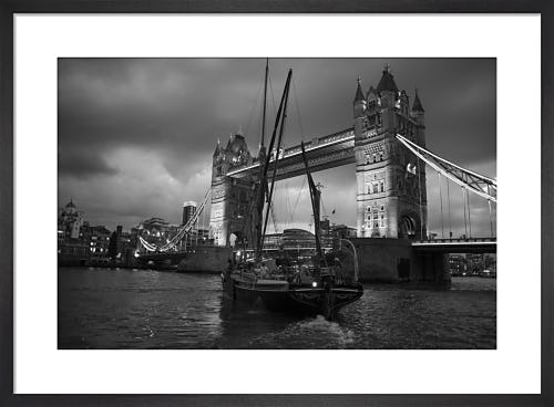 Thames Barge up to Tower Bridge by Niki Gorick