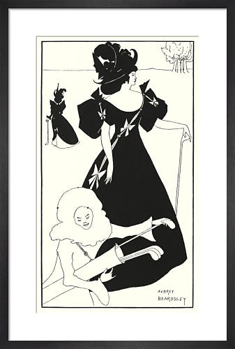 Design for a golf card by Aubrey Beardsley