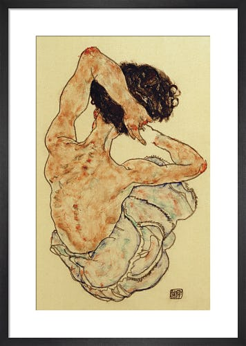 Female Nude Seen from Behind, 1915 by Egon Schiele