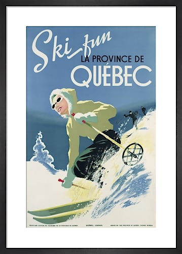 Ski Fun, La Province De Quebec, 1938 by Unknown artist