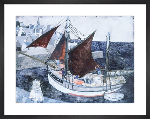 Boat in Harbour, Brittany, 1929 by Christopher Wood
