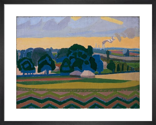 The Beanfield, Letchworth, 1912 by Spencer Gore