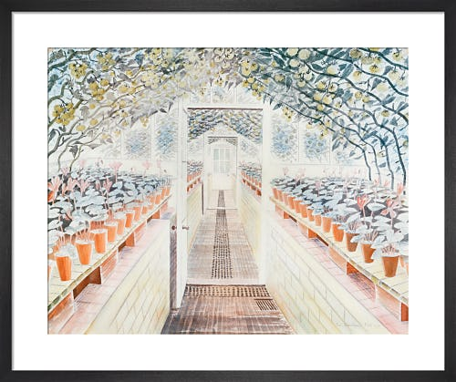 The Greenhouse: Cyclamen and Tomatoes, 1935 by Eric Ravilious