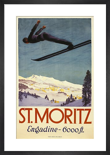 St Moritz & Engadine by Unknown artist