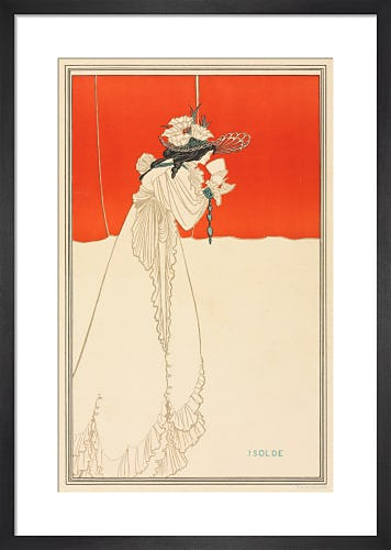 Isolde, 1865 by Aubrey Beardsley