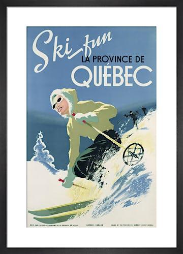 Ski Fun, La Province De Quebec, 1938 by Unknown artist