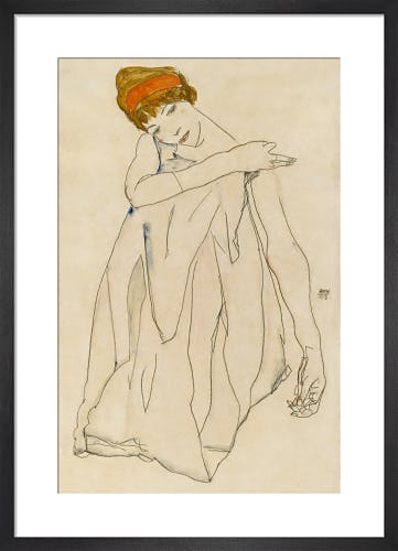 Dancer (Die Tanzerin) 1913 by Egon Schiele