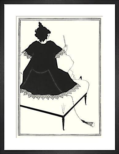 Salome on Settle by Aubrey Beardsley