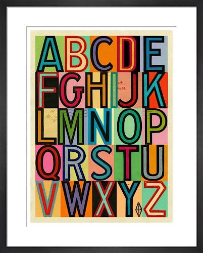 Vintage Outline Alphabet by Julia Trigg