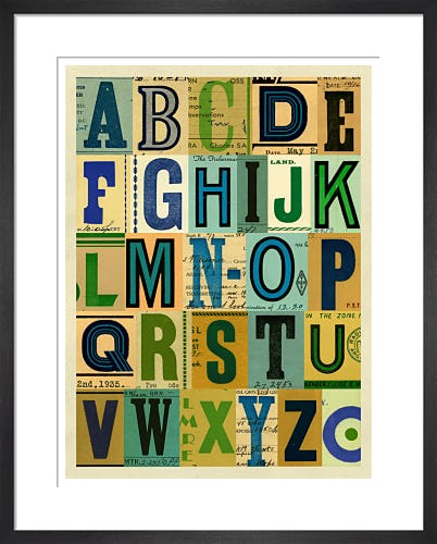 Vintage Radio Card Alphabet by Julia Trigg
