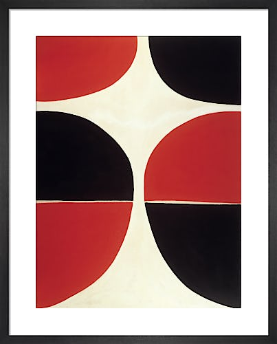 June, Red and Black 1965 by Sir Terry Frost RA