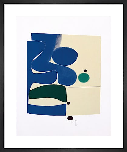 Blue Movement and Green, 1980 by Victor Pasmore