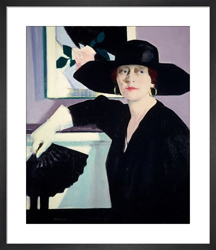 Portrait of a Lady in Black by F.C.B. Cadell