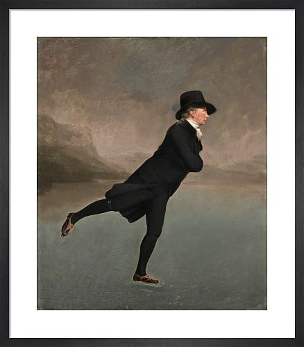 Reverend Robert Walker (1755 - 1808) Skating on Duddingston Loch by Sir Henry Raeburn