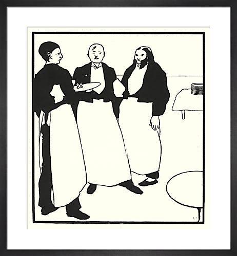 Garcons De Cafe by Aubrey Beardsley