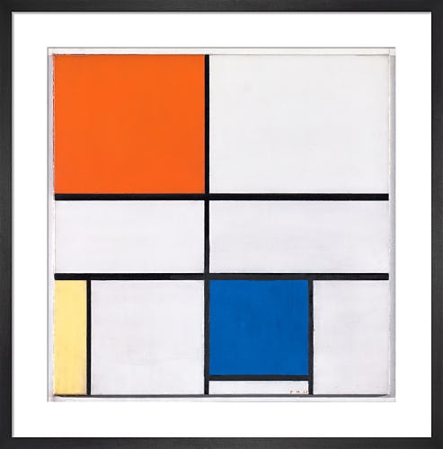 Composition C (No.III) with Red, Yellow and Blue, 1935 by Piet Mondrian