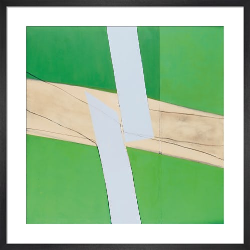 Green and White 1969 by Sandra Blow RA