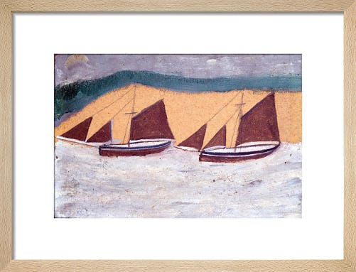Two Boats, c.1928 by Alfred Wallis