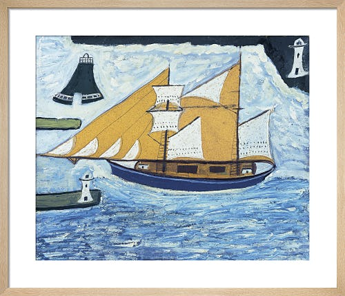 The Blue Ship, c.1934 by Alfred Wallis