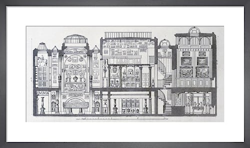 A cross-section through Sir John Soane's Museum 1835 by The Soane Office