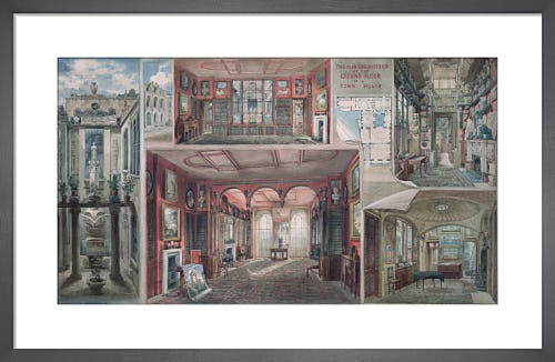 Composite view of Lincoln's Inn Fields by Joseph M Gandy